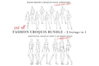 Female Figure Croquis Bundle for Fashion Illustration