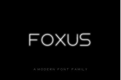 FOXUS - A Modern Sans Serif