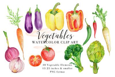 Vegetables Watercolor Clip Art