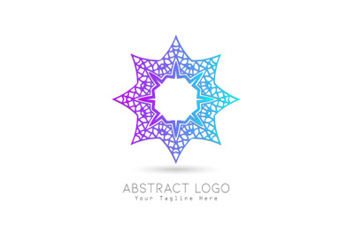 Logo Abstract Gradation Purple Blue Color Design