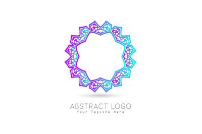 Logo Abstract Purple Blue Gradation Color