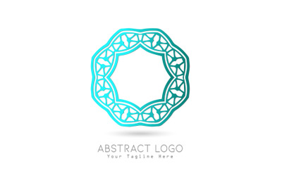 Logo Abstract Gradation Blue Color Design