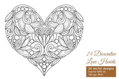24 Love Hearts set