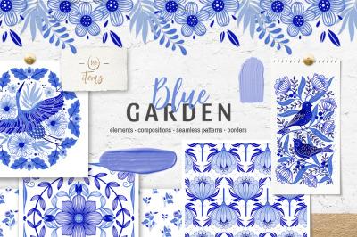 Blue Garden floral collection