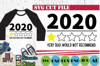 2020 Review Very Bad Would Not Recommend 1 Star Rating SVG Cut File