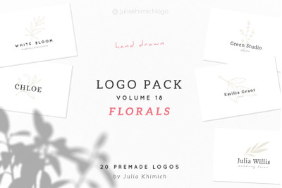 Logo Pack Volume 18. Florals