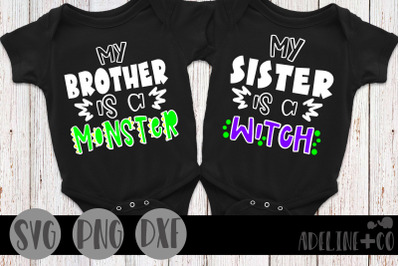My brother is a monster, my sister is a witch
