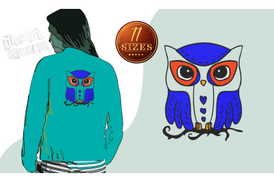 Owl Machine Embroidery Design