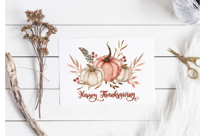 PRINTABLE Thanksgiving Card. Fall greeting card