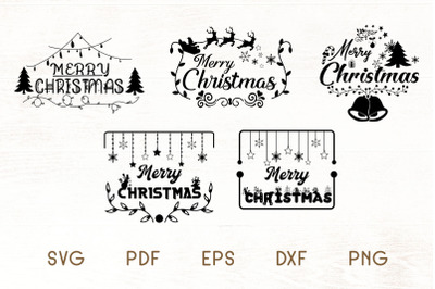 Christmas SVG - Merry Christmas SVG - Christmas Frames