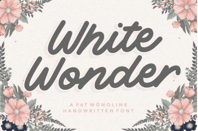 White Wonder Fat Monoline Handwritten Font