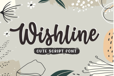 Wishline - Cute Script Font