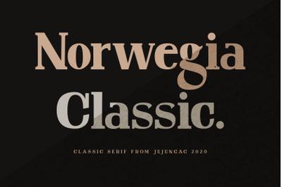 Norwegia Classic serif font