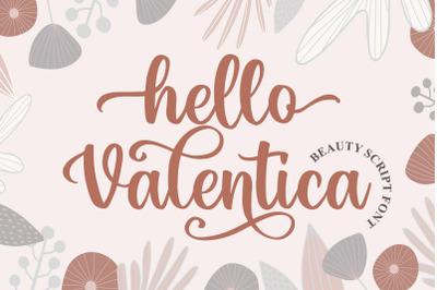 Hello Valentica a Beauty Script Font