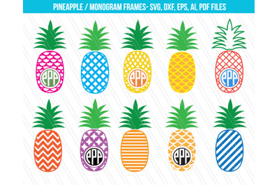 Pineapple SVG cutting files,DXF, Pineapple Svg, Patterned pineapple cl