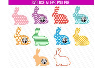 Easter Bunny SVG, Easter SVG, Bunny svg, easter bunny monogram clipart