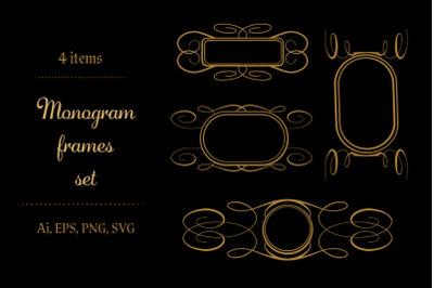 Monogram frames set