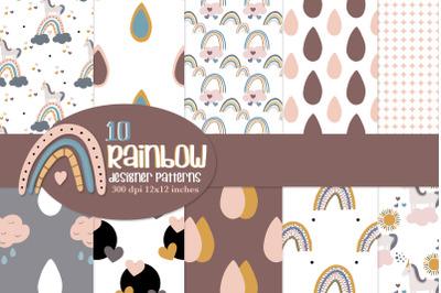 Rainbow repeat patterns, seamless patterns