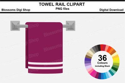 Towel Rail Sticker Clipart, 36 files, multi colours
