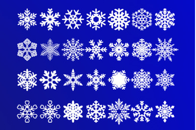 Snowflakes SVG, Christmas Decoration, Snowflakes Clipart, Winter SVG.