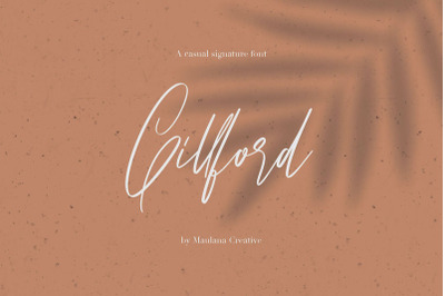 Gillford Casual Signature Font