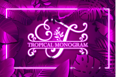 Tropical Monogram