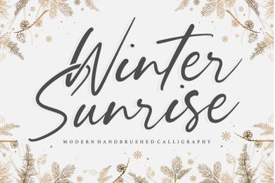 Winter Sunrise Modern Handbrushed Calligraphy Font