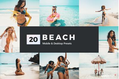 20 Beach Lightroom Presets & LUTs