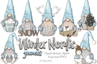 Winter Nordic Gnomes Planner Icons