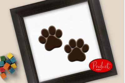 3D layered paw svg
