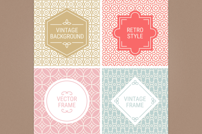 Mono Line Frames and Patterns