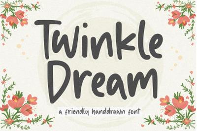 Twinkle Dream Friendly Handdrawn Font