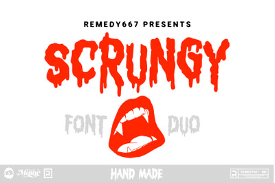 Scrungy - Font Duo