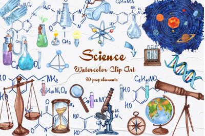 Science Watercolor Clip Art