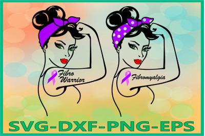 Rosie SVG, Rosie the Riveter svg, Fibromyalgia Warrior Svg