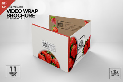 Video Wrap Brochure Packaging Mockup