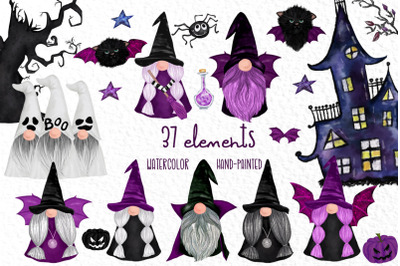Halloween Kids clipart Halloween Gnomes Cute Gnomes Spooky