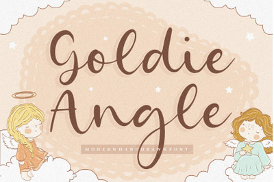 Goldie Angle Modern Handdrawn Font