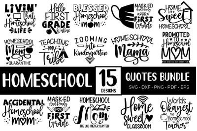 Homeschool SVG Bundle, Homeschool Quotes Bundle