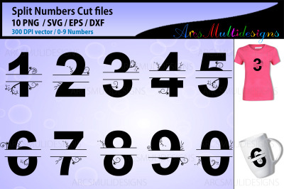 Split Numbers 0 to 9