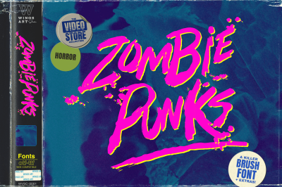Zombie Punks - The 80s Horror Movie Font