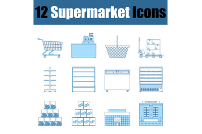 Supermarket Icon Set