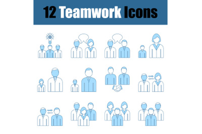 Teamwork Icon Set