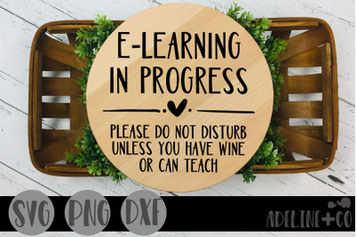 E-learning in progress, SVG, PNG, DXF