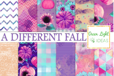 Pumpkins and Sunflowers Digital Papers, Fall Backgrounds, Autumn Paper