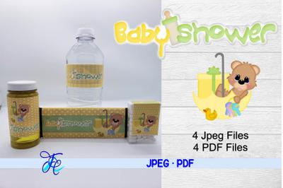 Baby Shower Neutral - Bear