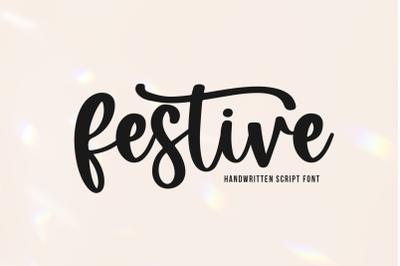 Festive - Handwritten Script Font