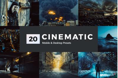 20 Cinematic Lightroom Presets & LUTs