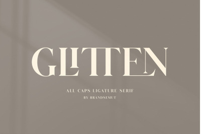 GLITTEN - All Caps Ligature Serif