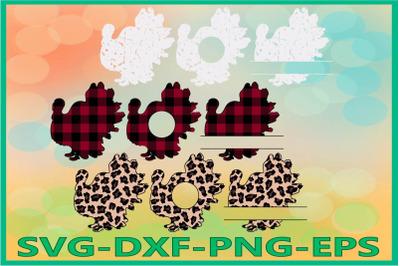 Turkey Leopard Svg, Thanksgiving Day svg, Grunge Svg